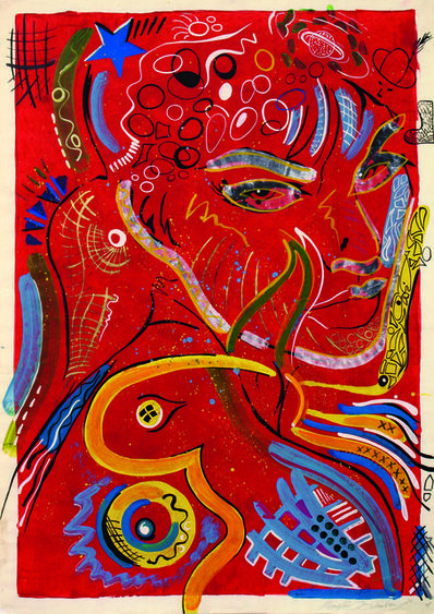Memphis Schulze, 'Frau in Rot (Lady in Red)', 1990
