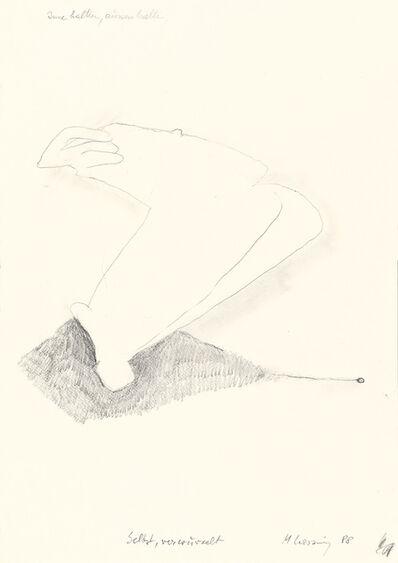 Maria Lassnig, 'Selbst, verwurzelt', 1988