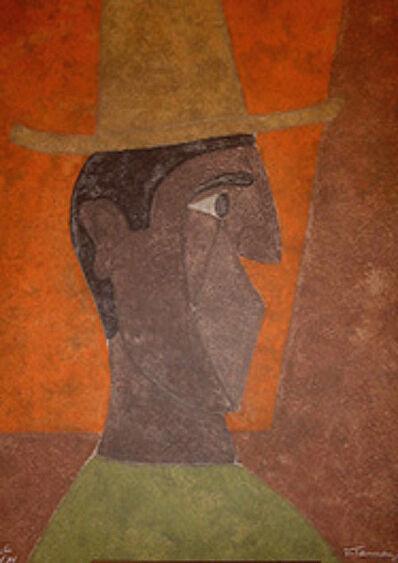 Rufino Tamayo, 'Cabeza con sombrero', 1980
