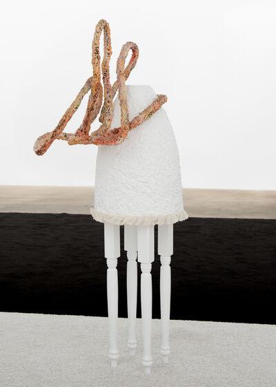 Trulee Hall, 'Humbling Flattering (Pink Head, White Skirt)', 2018