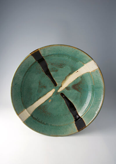 Shōji Hamada, 'Obachi, green glaze with trailed decoration'