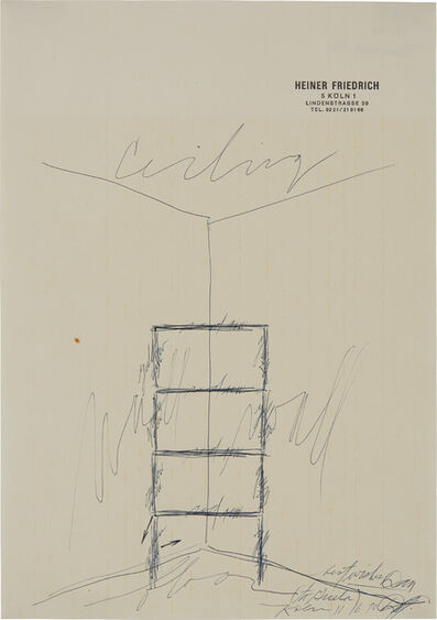 Dan Flavin, 'Untitled (best wishes to Gisela, Köln 11 16 70)', 1970
