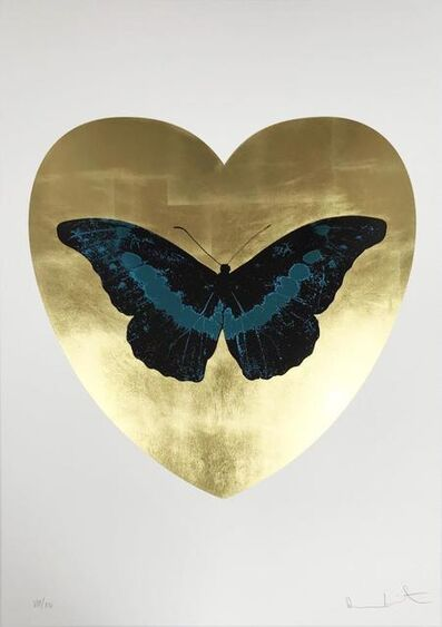 Damien Hirst, 'I Love You - Gold Leaf/Black/Turquoise', 2015