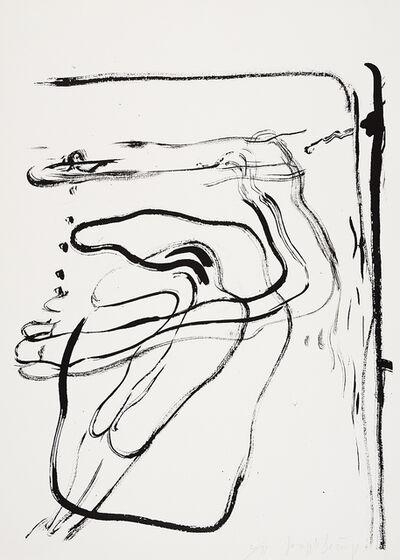 Joseph Beuys, 'aus Spur I (Schwimmer unter Wasser)', 1974