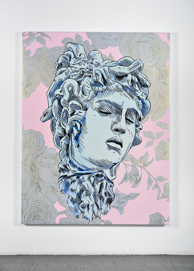 Mieke Marple, 'Bad Feminist (Silver Floral Medusa)', 2019