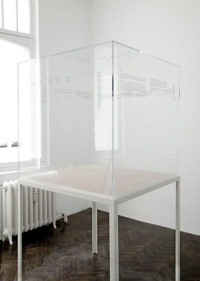 Ignasi Aballí, 'Untitled (Dust)', 2011
