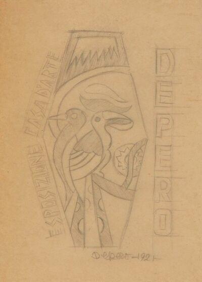 Fortunato Depero, 'Progetto di un manifesto per la casa d'arte Depero', 1921