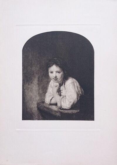 Rembrandt van Rijn, 'Jeune fille à la fenêtre', ca. 1910