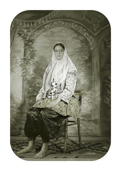 Pushpamala N., 'Shadi Ghadirian Studio Tehrah Photographed by Shadi as Qajar Woman Sitting Side View', 2009