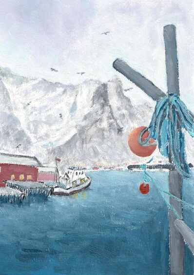 Li Shan  李珊 (b. 1957), 'The Blue Rope (Lofoten, Norway)  蓝绳子(罗浮敦群岛,挪威)', 2020