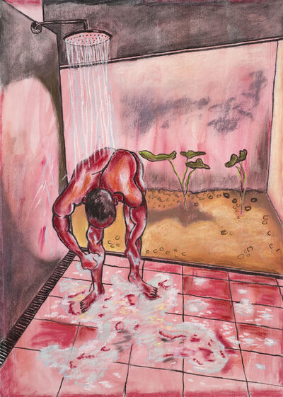 Christabel MacGreevy, 'Man In Shower Somewhere Hot ', 2019