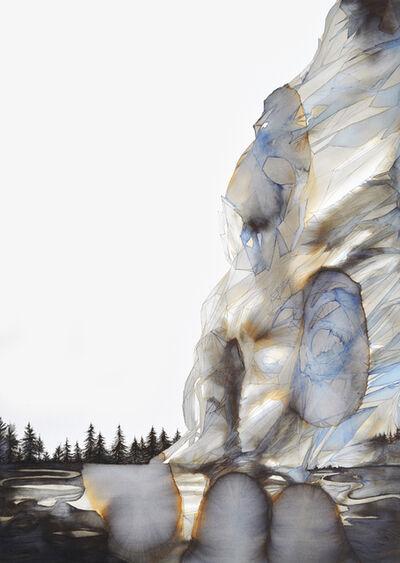 Philippa Jones, 'Land forming geyser clouds arise'