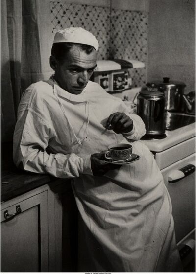 W. Eugene Smith, 'Weary Doctor with Coffee Cup'