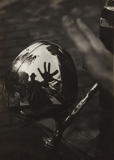 Imre Kinszki, 'Self-Portrait in Reflection of Car Headlight', circa 1934