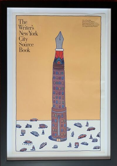 "Seymour Chwast, '""Writer's Workshop"", an advertising poster created in 1981 for the New York City Department of Cultural Affairs', 1987"