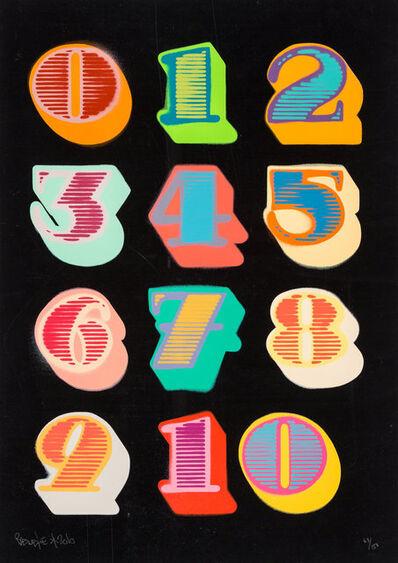 Ben Eine, 'Shutter Font Numbers (Black)', 2010