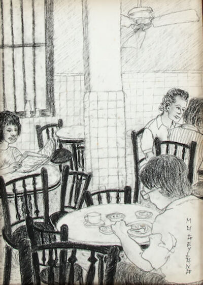 Gilles Massot, 'The Coffee Shop Series, Charcoal Drawing 8 ', 1992