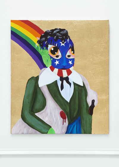 Bailey Scieszka, 'PARSIFAL (TAR AND FEATHER BETSY ROSS FACE PAINT)', 2019