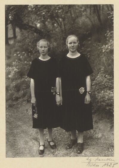 August Sander, 'Country Girls', 1925