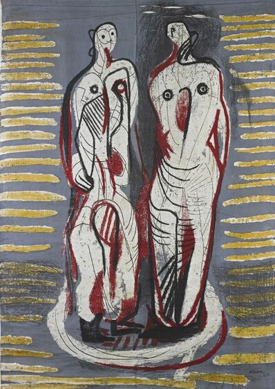 Henry Moore, 'Two Standing Figures (Henry Moore Foundation Tex. 20)', 1948