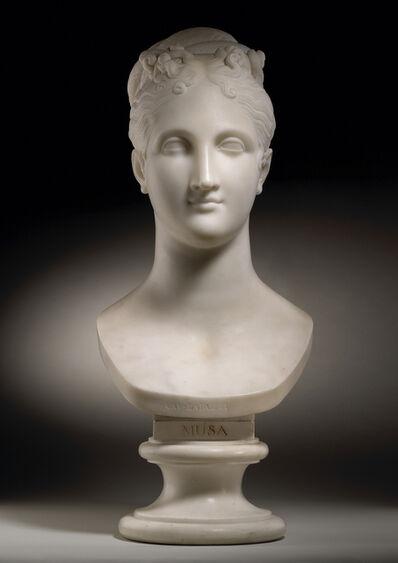 Cav. Cincinnato Baruzzi, 'Bust of a Muse', ca. 1820