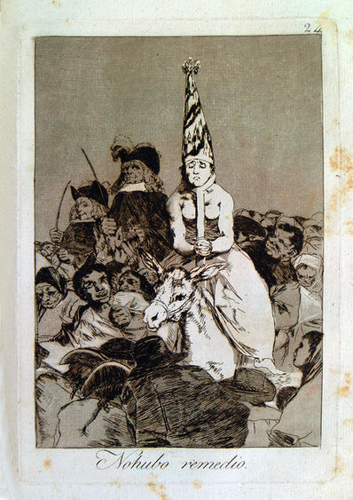 Francisco de Goya, 'Nohubo remedio', 1799