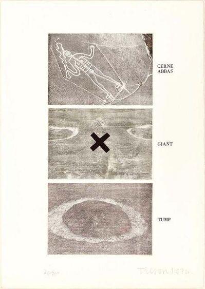 Joe Tilson, 'Cerne Abbas, Giant, Tump', 1976