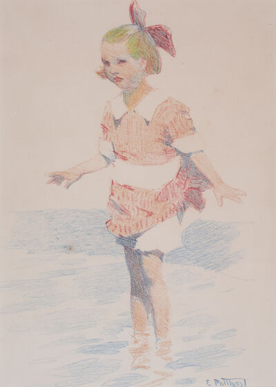 Edward Henry Potthast, 'GIRL WADING', ca. 1900