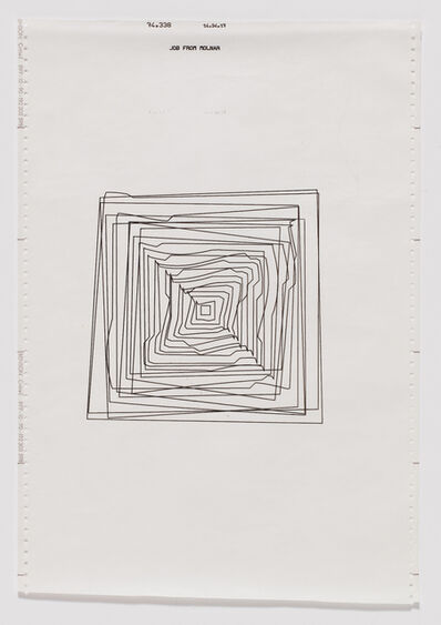 Vera Molnar, 'Hypertransformation of 20 Concentric Squares', 1974