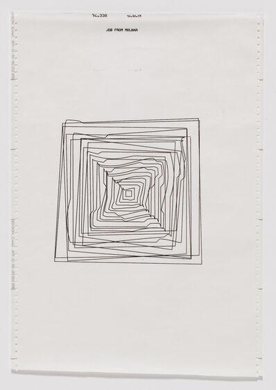 Vera Molnar, 'Hypertransformation of 20 Concentric Squares', 1974