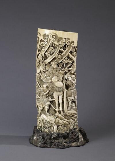 Ishikawa Komei, 'Vase with the Warrior Yoshitsune', ca. 1880