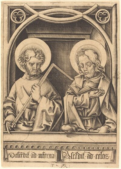 Israhel van Meckenem, 'Saints Thomas and James the Less', ca. 1480/1485