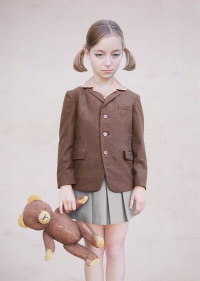 Loretta Lux, 'Girl with a Teddy Bear', 2001