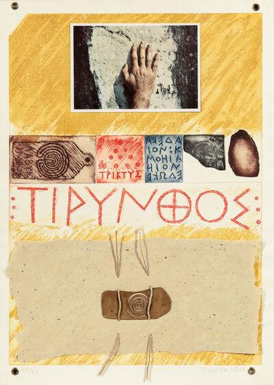 Joe Tilson, 'Proscinemi, Tyrins', 1978