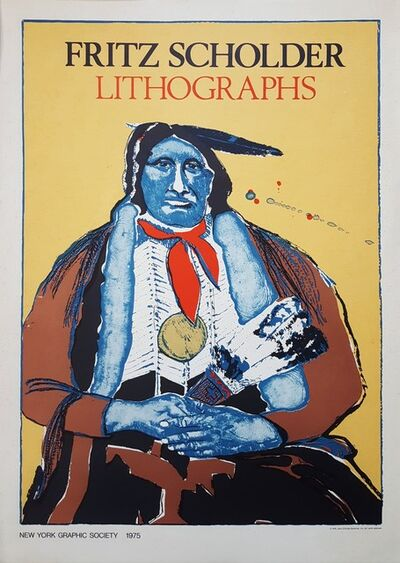 Fritz Scholder, 'Indian With Feather Fan', 1975