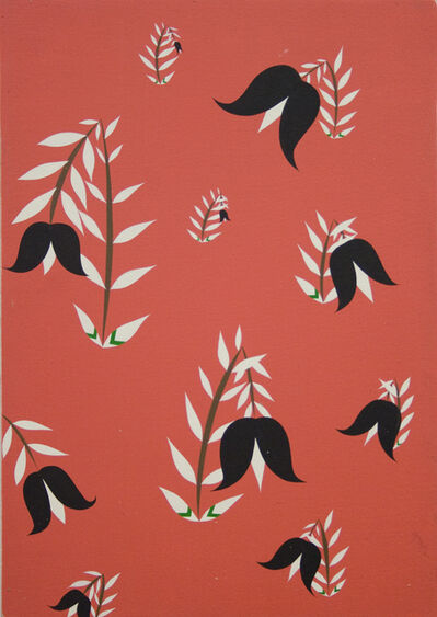 Clare E. Rojas, 'Untitled (Black & White Flowers)', 2009