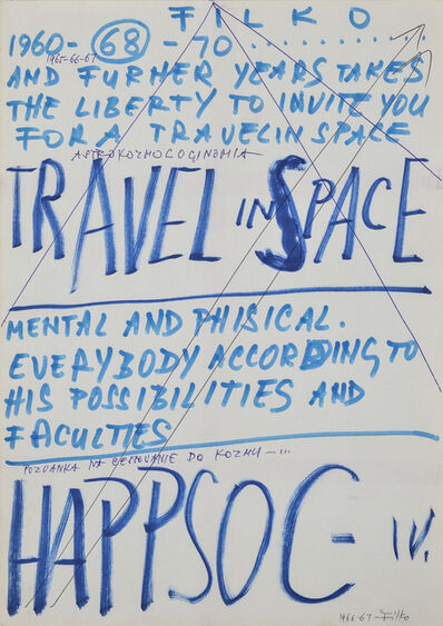 Stano Filko, 'From the series The Invitation to Travel in Space. Happsoc IV.'