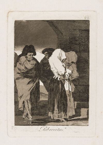 Francisco de Goya, 'Pobrecitas!, plate 22 from 'Los Caprichos', First edition', 1799