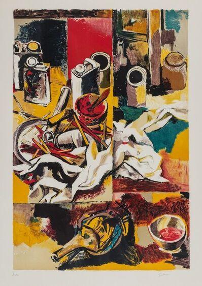 Renato Guttuso, 'Inside studio'