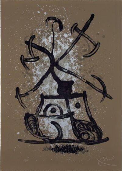 Joan Miró, 'L'Entraîneuse brun (The Brunette Enticer; The Teaser Brown)', 1969