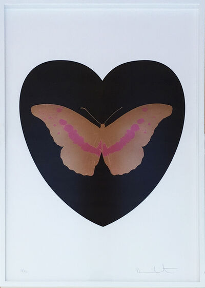 Damien Hirst, 'I Love You - Black/Cool Gold/Loganberry', 2015