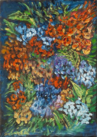 Yosl Bergner, 'Flowers', ca. 2005