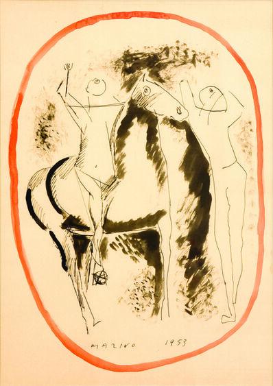 Marino Marini, 'Giocolieri e cavallo (Jugglers and horse)', 1953