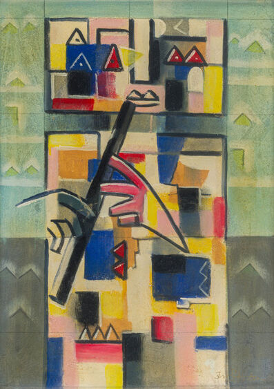 Ibrahim Kodra, 'A Youth Playing the Flute', 1987