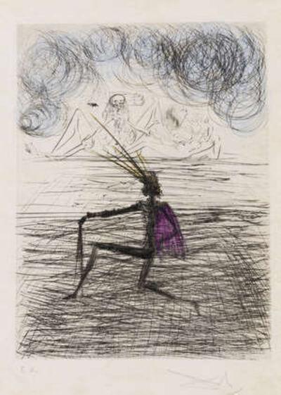 Salvador Dalí, 'Chevalier a Genou', 1968/1969