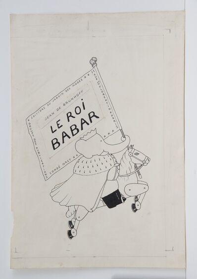 Jean de Brunhoff, 'Cover illustration for Babar the King', 1936