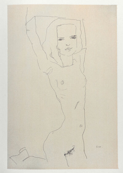 Egon Schiele, 'Nude Girl with Arms Raised (1910)', 2007