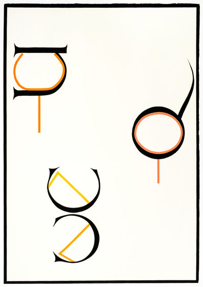 Jo Baer, 'Cadmos' Thicket', 1973