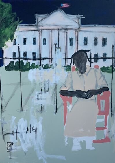 Jammie Holmes, 'Grandma Visits White House', 2019