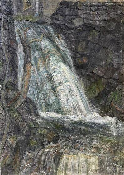 Leonard McComb R.A., 'Waterfall, Anglesey, Wales', 1985